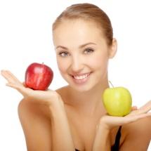 Mascarilla de pulpa de manzana para prevenir arrugas.