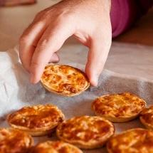 Minipizzas de carne caseras