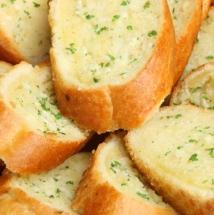 Pan al ajo casero.
