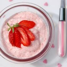 Delicioso mousse de fresas