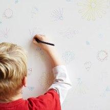 Truco para quitar la crayola de tu pared.