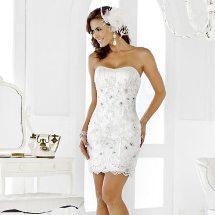 Tendencias: Lo último en vestidos de novia cortos.