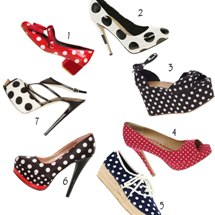 Zapatos con lunares. ¡No pueden faltar en tu armario!